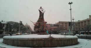 Erzincan'da Beklenen Kar Geldi